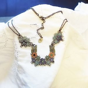 Jewelry - Cloisonne Jewelry Floral Necklace